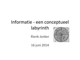 Informatie - een conceptueel labyrinth