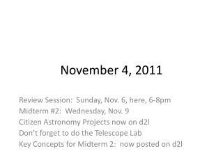 November 4, 2011