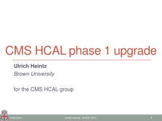 CMS HCAL phase 1 upgrade