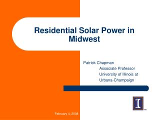 Residential Solar Power in Midwest