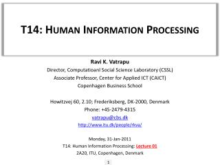 T14: Human Information Processing