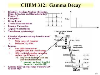 CHEM 312:  Gamma  Decay