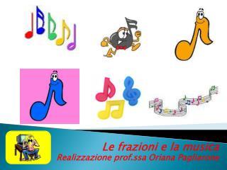 Le frazioni e la musica Realizzazione prof.ssa  O riana Pagliarone