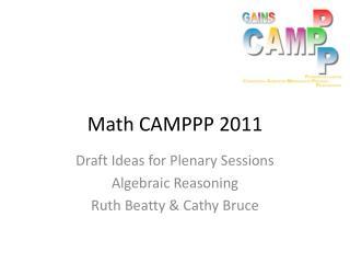 Math CAMPPP 2011
