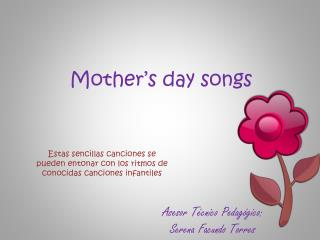 Mother's day songs