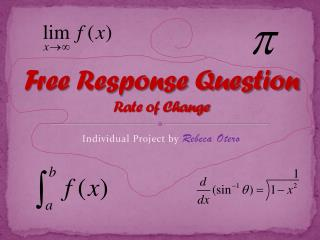 Free Response Question Rate of Change
