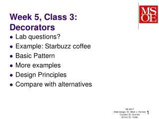 Week 5, Class 3: Decorators