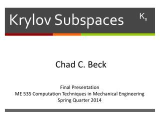 Krylov Subspaces