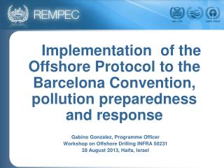 Gabino Gonzalez, Programme Officer  Workshop on Offshore Drilling INFRA 50231