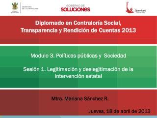 Modulo 3. Políticas públicas y  Sociedad
