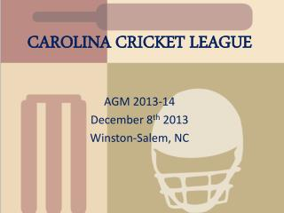 CAROLINA CRICKET LEAGUE