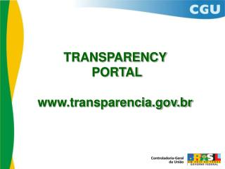 TRANSPARENCY  PORTAL transparencia.br