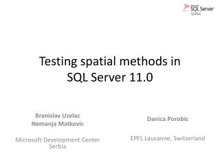 Testing spatial methods in  SQL  Server 11.0