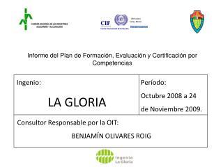 Informe del Plan de Formación, Evaluación y Certificación por Competencias