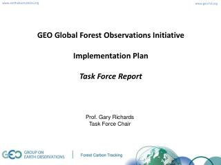 GEO Global Forest Observations Initiative Implementation Plan Task Force Report