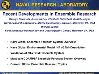 Recent Developments in Ensemble Research
