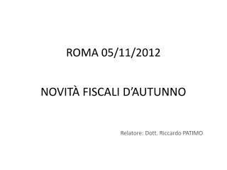 NOVITÀ FISCALI  D'AUTUNNO