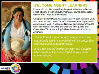 WELCOME AGENT LEARNERS