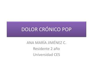 DOLOR CRÓNICO POP