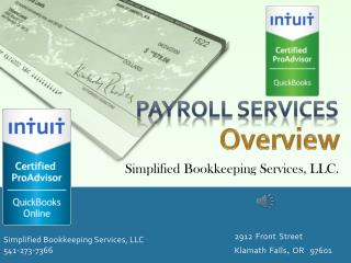 Simplified Bookkeeping Services, LLC 541-273-7366