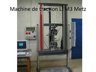 Machine de traction LEM3 Metz