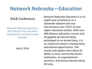 Network Nebraska�Education