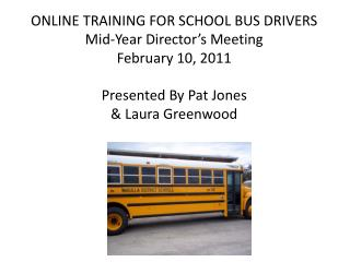 ON-LINE SCHOOL TRAINING SOLUTIONS