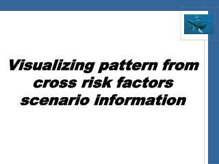 Visualizing pattern from  cross  risk  factors  scenario information