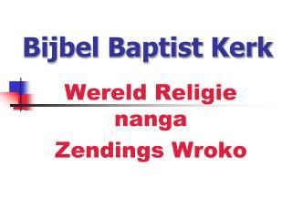 Bijbel Baptist Kerk
