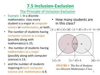 7.5 Inclusion-Exclusion