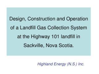 Highland Energy (N.S.)  Inc.