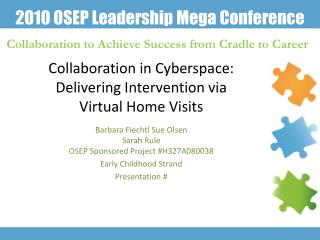 Collaboration in Cyberspace: Delivering Intervention via  Virtual Home Visits