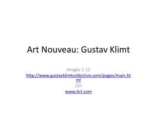 Art Nouveau: Gustav Klimt