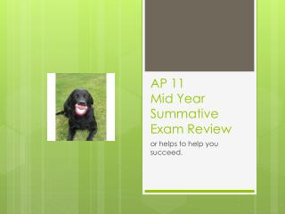 AP 11 Mid Year Summative Exam Review