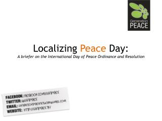 Localizing  Peace  Day:  A briefer on the International Day of Peace Ordinance and Resolution
