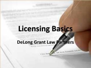 Licensing Basics