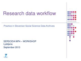 Research data workflow