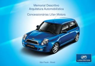 Memorial Descritivo Arquitetura Automobilística Concessionárias Lifan Motors