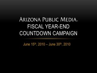 Fiscal Year-End  Countdown Campaign