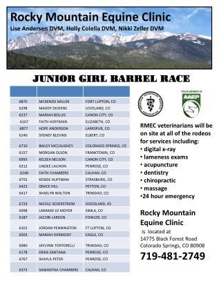 Rocky Mountain Equine Clinic Lise  Andersen DVM, Holly Colella DVM, Nikki Zeller DVM