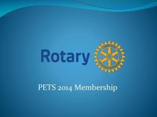 PETS 2014 Membership