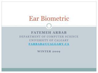 Ear Biometric
