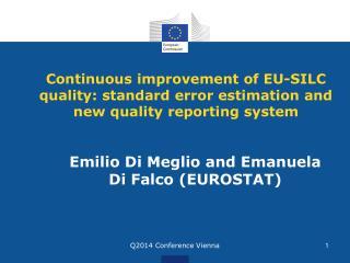 Emilio Di Meglio and Emanuela Di Falco (EUROSTAT)