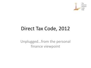 Direct Tax Code, 2012
