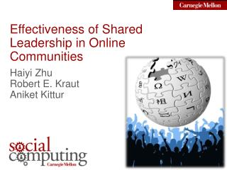 Effectiveness of Shared Leadership in Online Communities