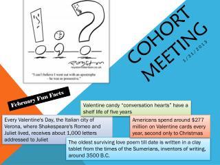 Cohort  meeting