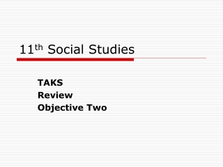 TAKS Review Objective 4.2