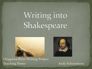 Writing into Shakespeare