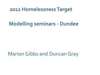 2012 Homelessness Target