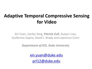 Adaptive Temporal Compressive Sensing for Video